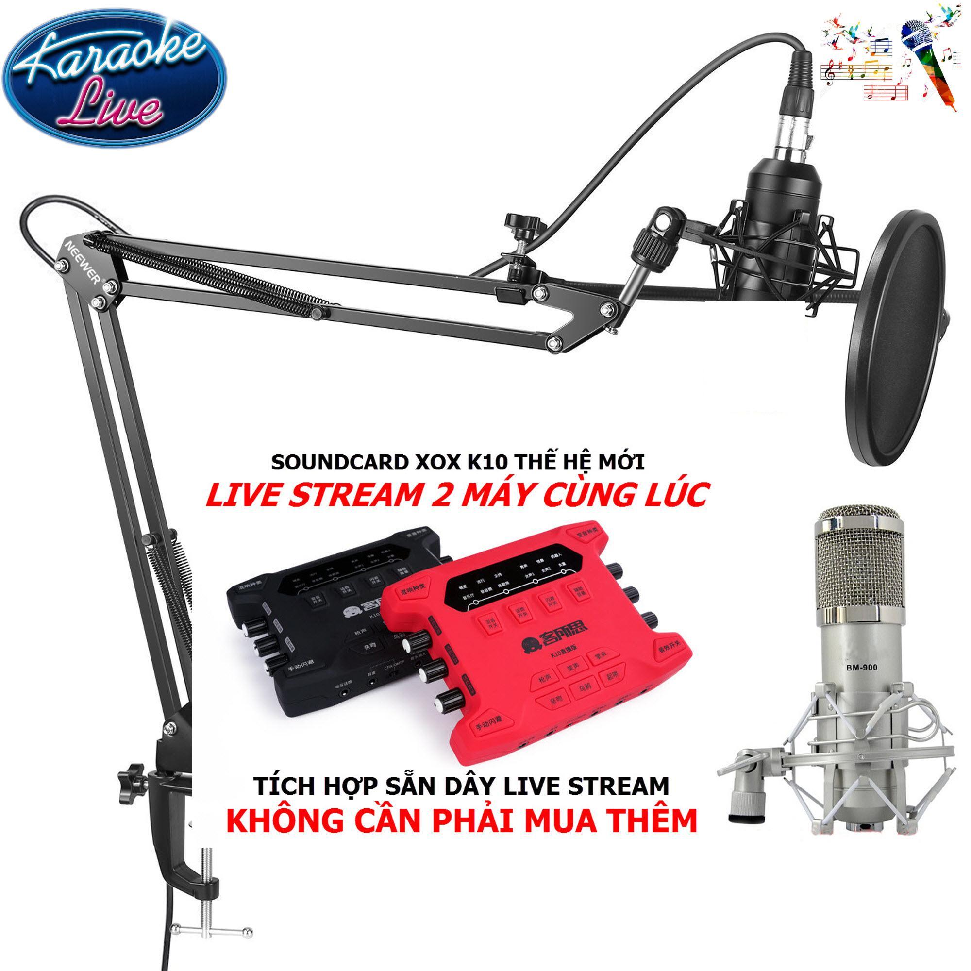 Chiết Khấu Bộ Micro Thu Am Cao Cấp Hat Karaoke Live Webcast Trực Tiếp Tren Youtube Với Soundcard Xox K10X Thế Hệ Mới Tich Hợp Sẵn Day Live Stream Micro Cao Cấp Bm900 Chan Đế Kẹp Ban Mang Lọc Am K Pop