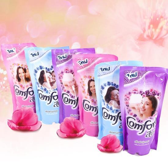Combo 6 gói Nước xả vải Comfort Thái 580ml (mỗi gói 580ml )