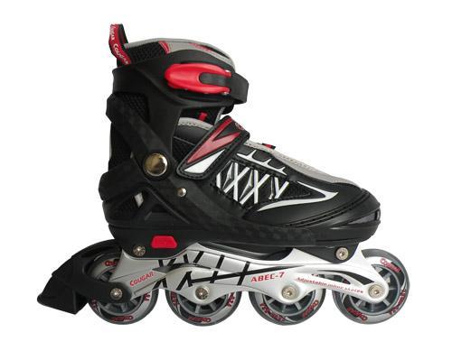 Giầy trượt patin Cougar MZS851 Đen phối trắng ( Size 34-37 )