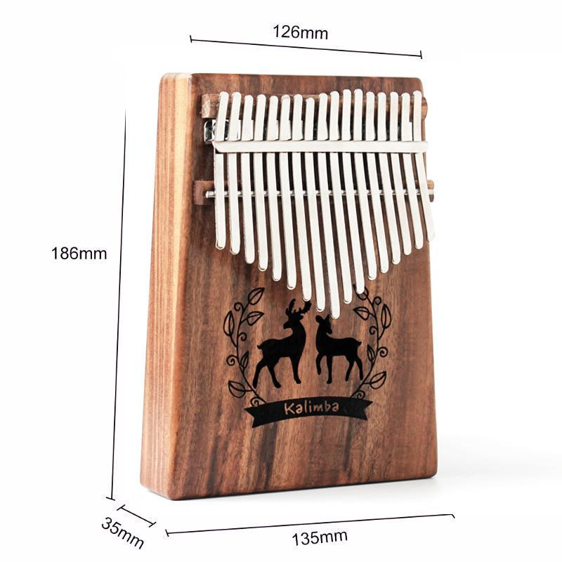 MYRON 17-key Kalimba Thumb Piano Rosewood Full Accessories