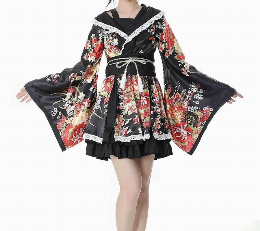 ชุดโบราณลายญี่ปุ่นโสเภณีเสื้อผ้า Cosplay ชุดแสดงได้รับการดีไซน์ใหม่ Furisode ชุดกิโมโนชุดสาวใช้ Elysium เต้นรำบ้าน By Taobao Collection.