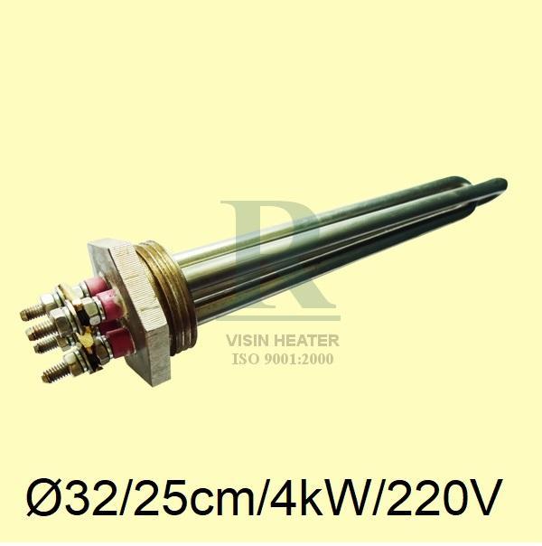 Hình ảnh Điện trở nhiệt Điện trở đốt nóng thanh nhiệt dây mai so may so Inox 304 điện trở cục ren inox 304 Ø32 - Ø 48