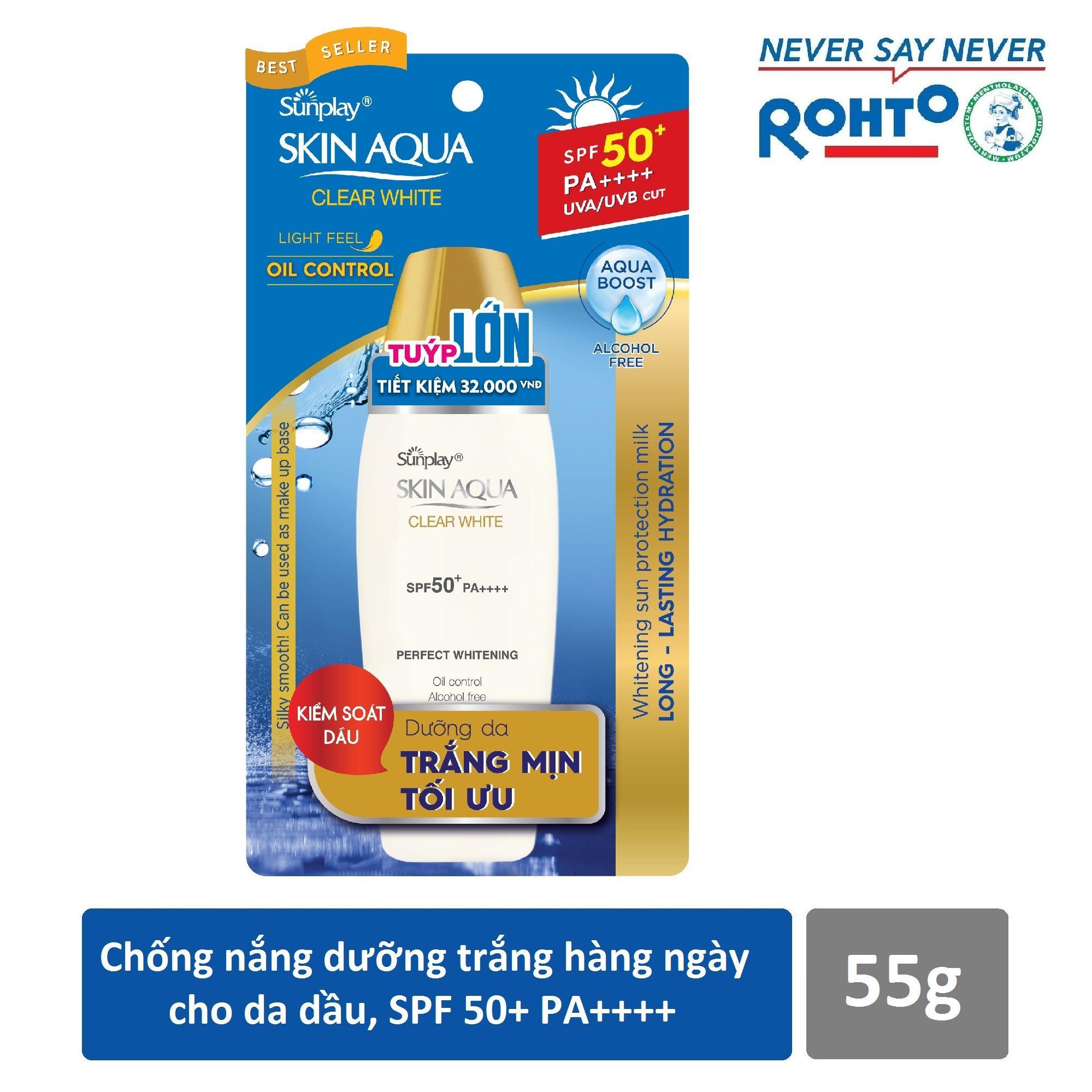 Hình ảnh Sữa chống nắng hằng ngày dưỡng trắng Sunplay Skin Aqua Clear White SPF 50+, PA++++ 55g