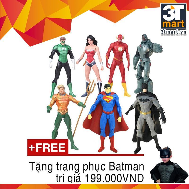 Bán Bộ 7 Sieu Anh Hung Thuộc Lien Minh Cong Lý Justice League 3Tmart Cao 18Cm Tặng Trang Phục Batman 199 000Đ Mới