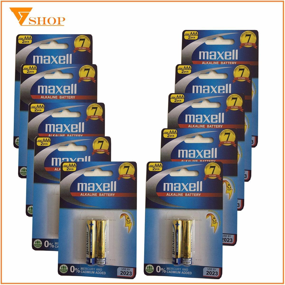10 vỉ Pin AAA Maxell Alkaline 1.5 V