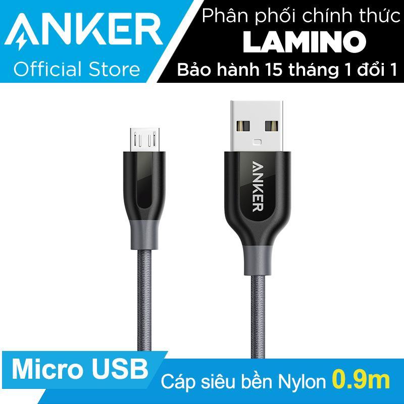 Mua Cap Sieu Bền Nylon Anker Powerline Micro Usb Dai 9M Xám Co Bao Da Hang Phan Phối Chinh Thức Trong Hồ Chí Minh