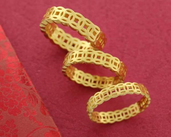 Nhẫn kim tiền mạ vàng 18K đón tài lộc,rước phú quý cực đẹp (hàng có sẵn)