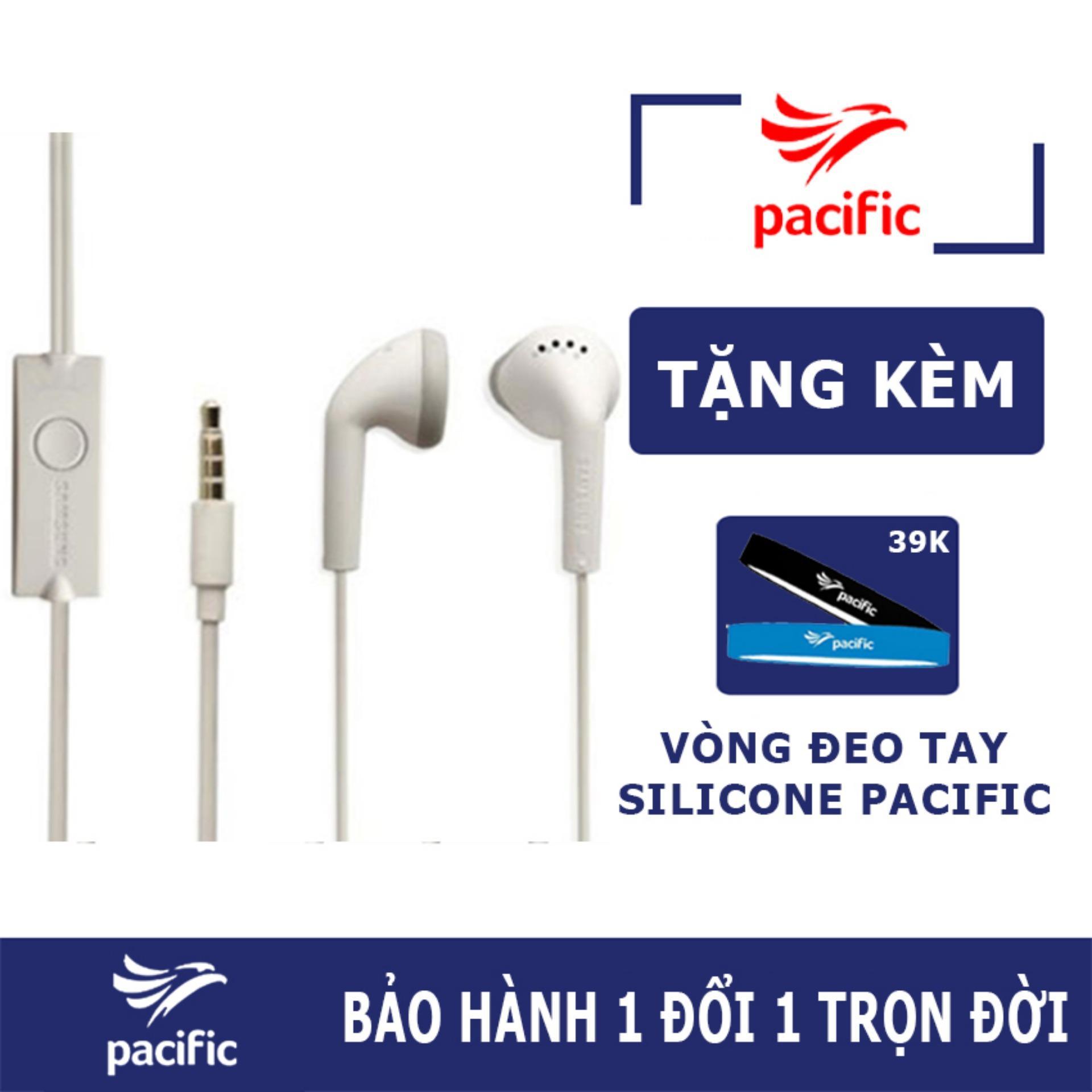 Tai nghe nhét tai Galaxy J7 Pro Zin (Trắng) - Tặng Vòng đeo tay Silicone Pacific