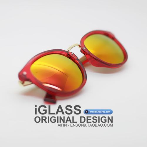 Masuknya Orang Warna Bingkai Transparan Kacamata Hitam Pria dan Wanita Jeli Warna Lensa Reflektif Bayangan Retro