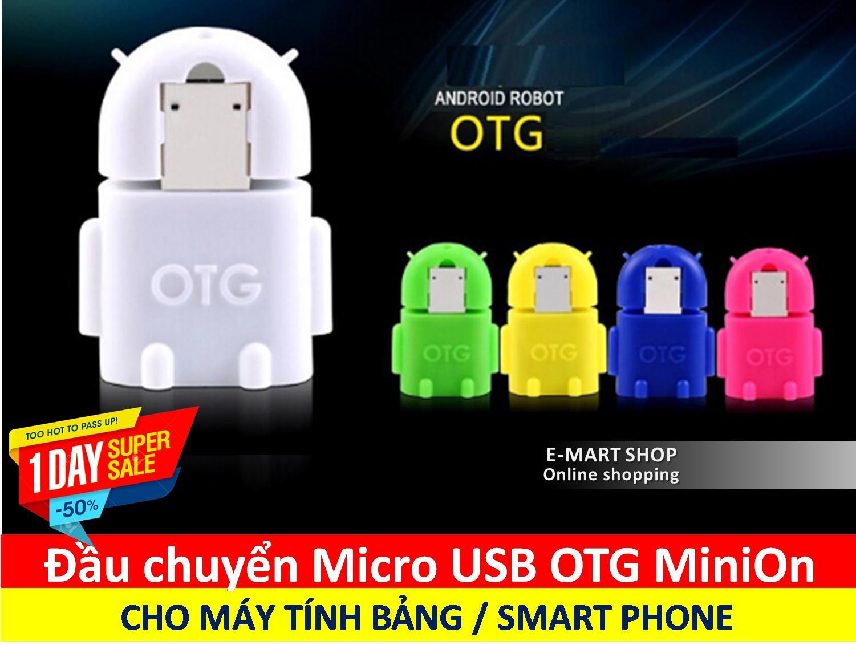 Hình ảnh Đầu chuyển Micro USB OTG cho máy tính bảng và smart phone (Mầu ngẫu nhiên) - Hàng nhập khẩu