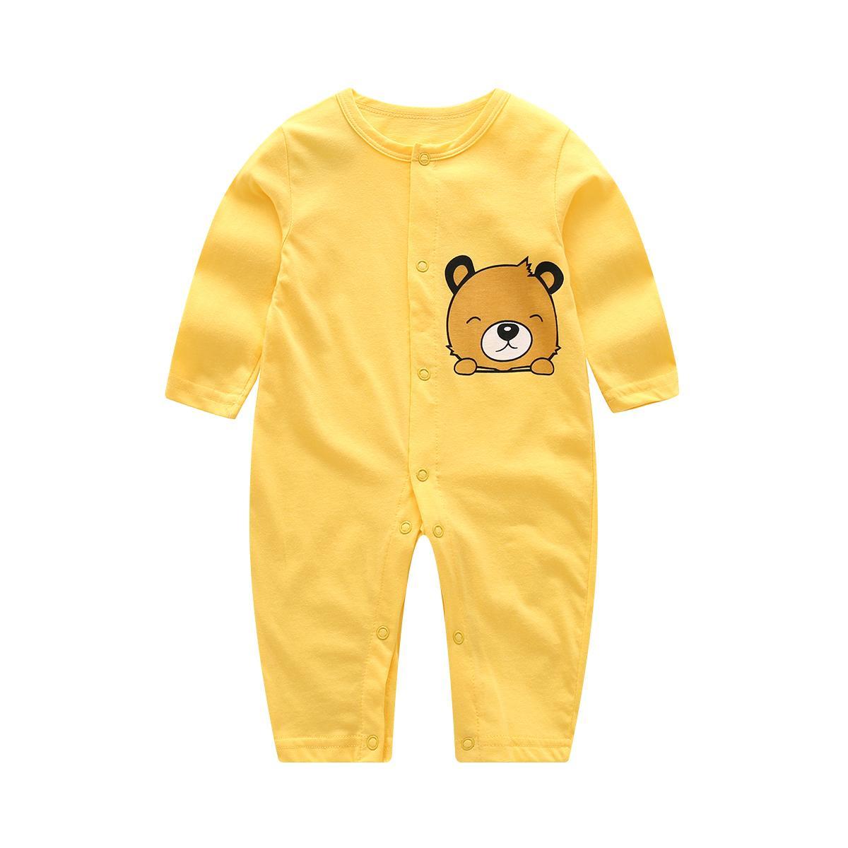 ชุดบอดี้สูทเด็กทารก แขนยาว ผ้าฝ้าย100%.