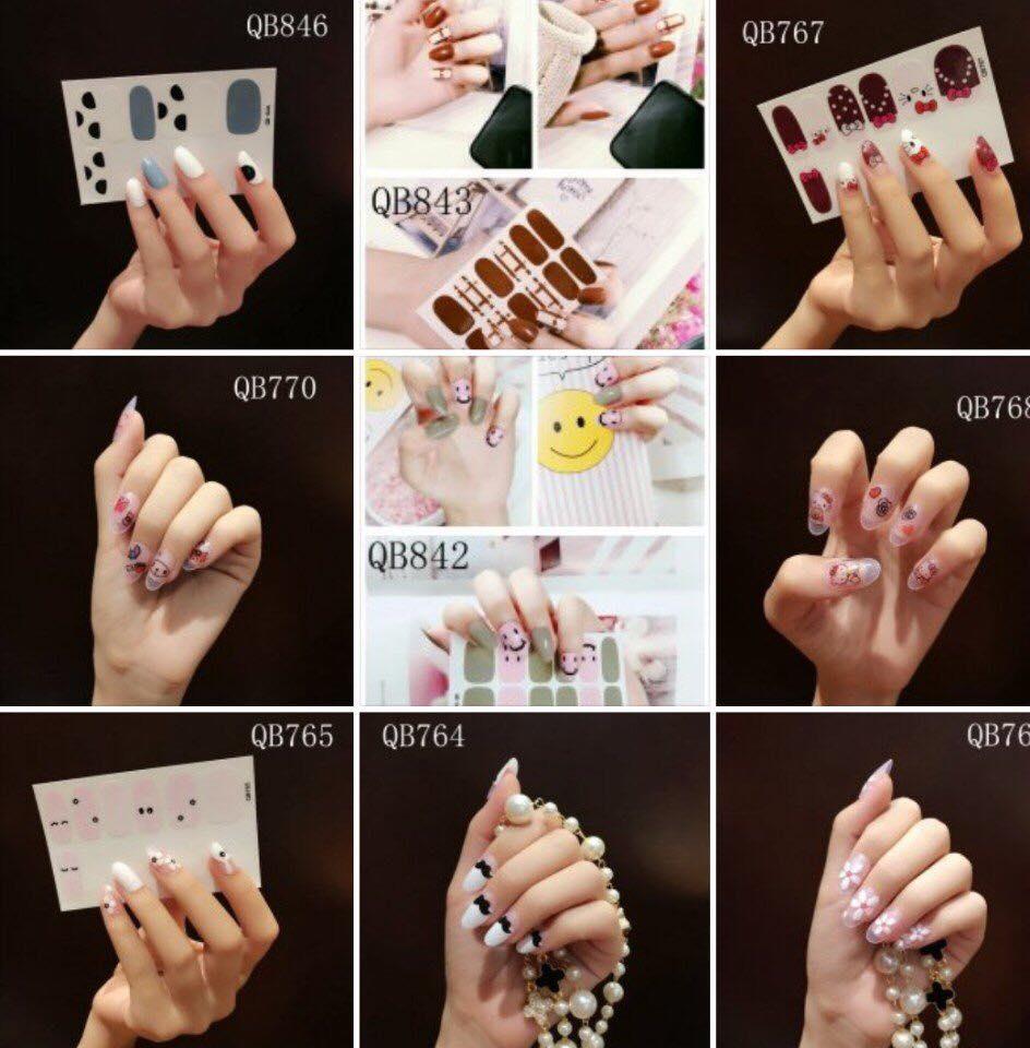 Bộ 12 miếng dán móng tay tuyệt đẹp cho phái đẹp (Sticker dán móng)