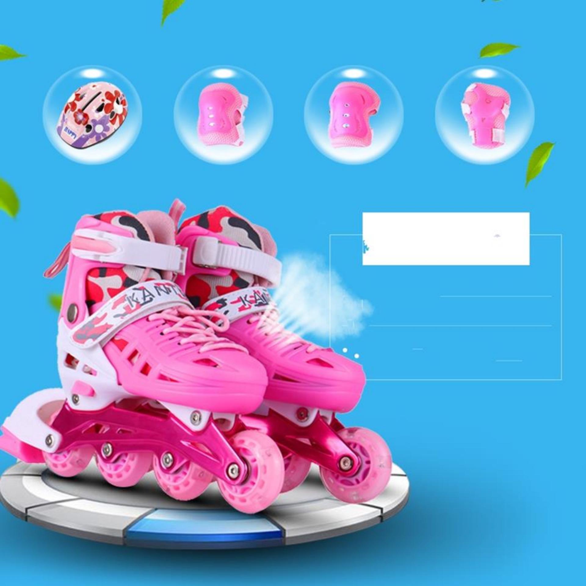 Giày Trượt Patin Giá|Giấy Trượt Patin KANTLAN Cho Bé Yêu KT35, Chất Liệu PVC Mền Không Đau Chân, Khung Xương Chắc Chắn Nâng Đỡ Tốt Trọng Lượng Cơ Thể Bé