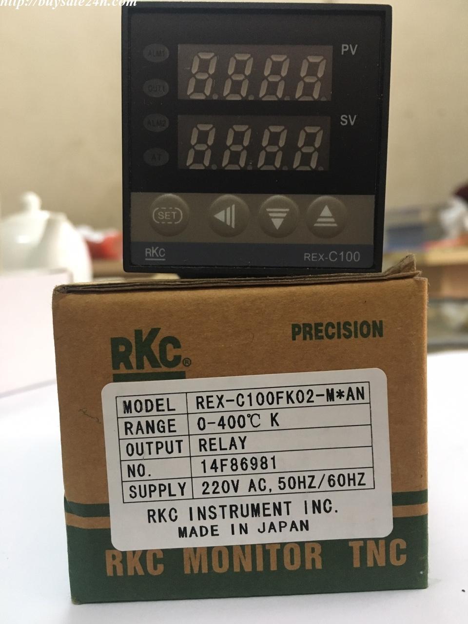 Bộ điều khiển nhiệt độ ( Đồng hồ nhiệt độ ) RKC REX-C100 mặt 45x45 48x48