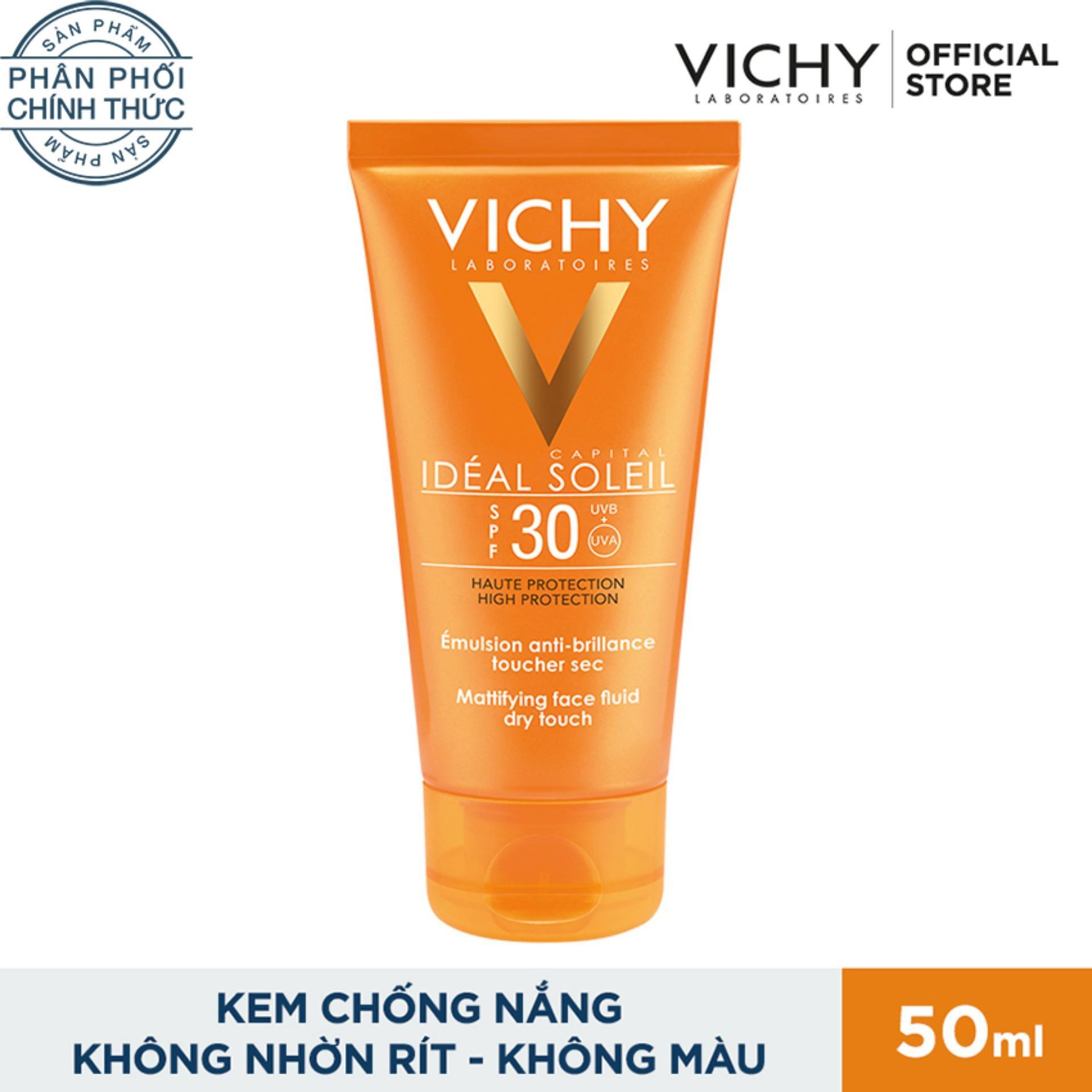 Kem Chống Nắng Khong G*y Nhờn Rit Vichy Ideal Soleil Dry Touch Spf 50 Chống Tia Uva Uvb 50Ml Vichy Chiết Khấu 40