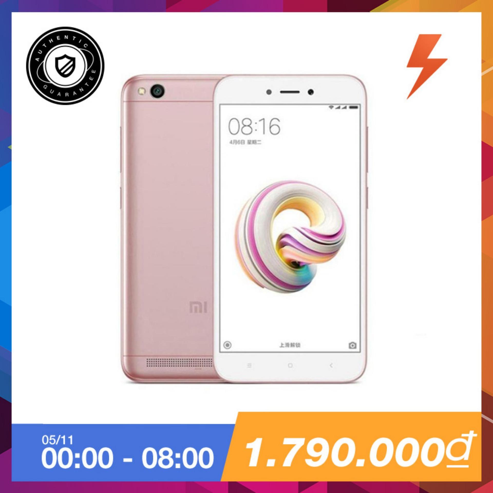 Mua Xiaomi Redmi 5A 16Gb Ram 2Gb Vang Hồng Hang Phan Phối Chinh Thức Rẻ