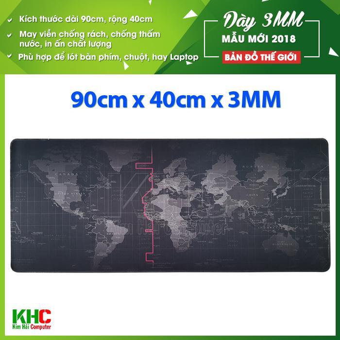 Tấm Lot Chuột Mẫu Bản Đồ Thế Giới Mẫu 2018 Size 90Cm X 40Cm Day 3Mm Kim Hải Computer Chiết Khấu Hồ Chí Minh