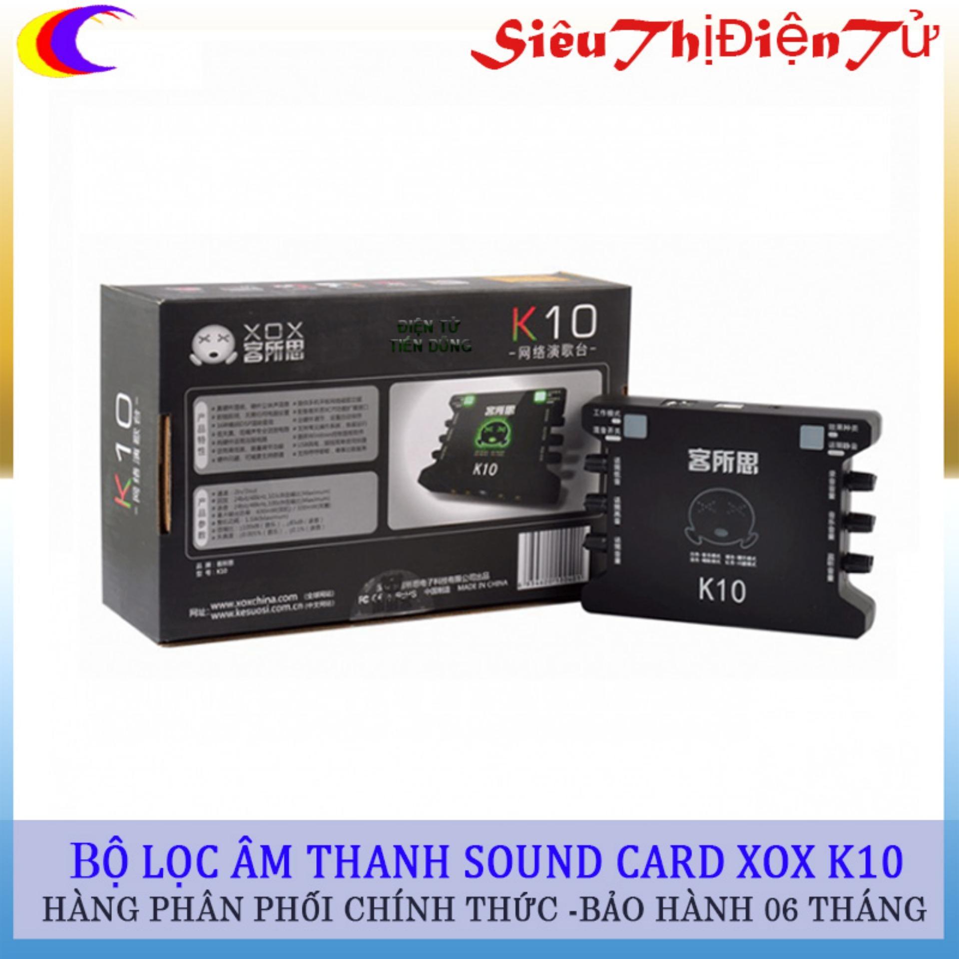 Bán Bộ Sound Card Xox K10 Chuyển Lọc Am Thanh Việt Nam