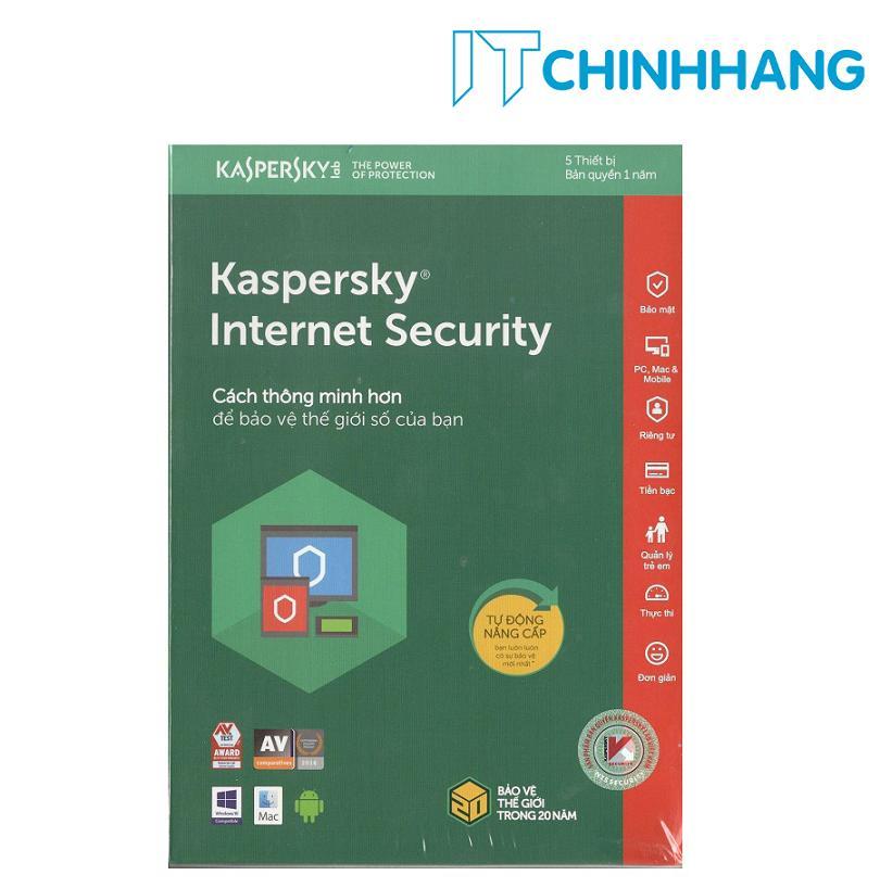 Hình ảnh PHẦN MỀM BẢO MẬT MÁY TÍNH KASPERSKY INTERNET SECURITY 5PC- HÃNG PHÂN PHỐI CHÍNH THỨC