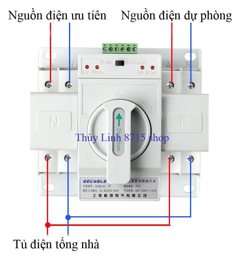 Hình ảnh Bộ đổi nguồn điện tự động ATS 2P 63A GECHELE
