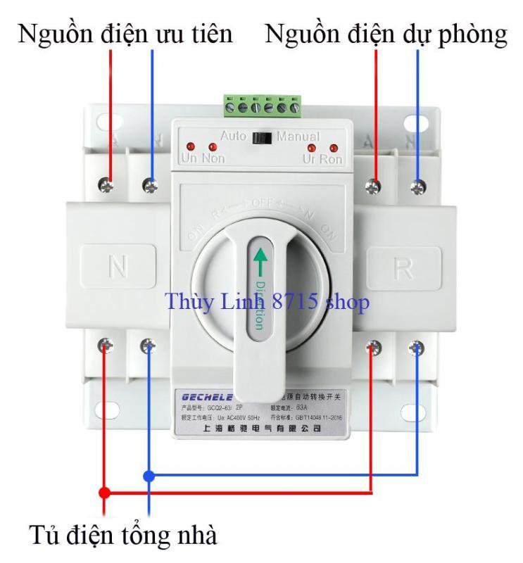 Bộ đổi nguồn điện tự động ATS 2P 63A GECHELE