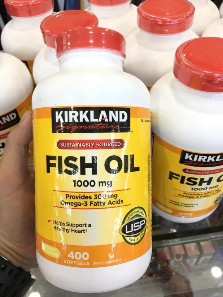 DẦU CÁ FISH OIL KIRKLAND MỸ 400VIEN nhập khẩu