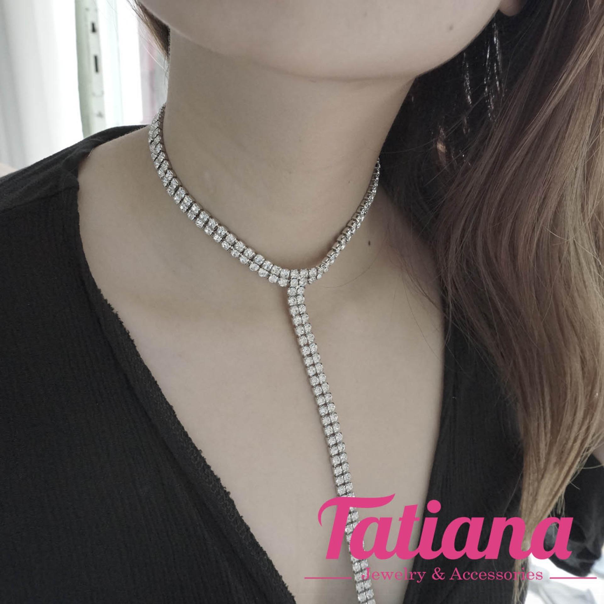 Chiết Khấu Vong Cổ Choker Line Đa Tatiana D1044 Tatiana