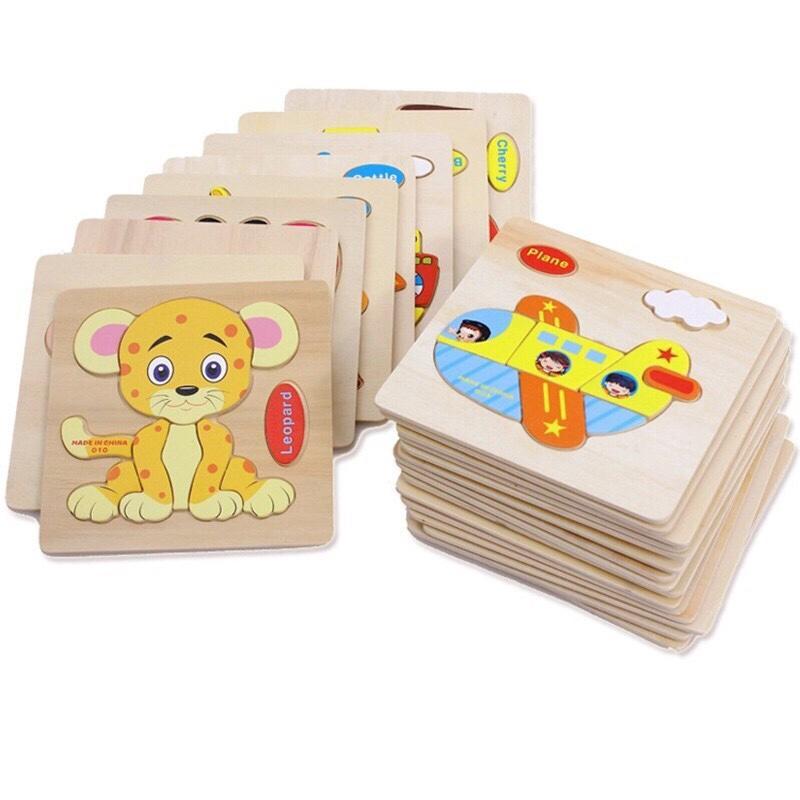 Hình ảnh Bộ 5 tấm đồ chơi gỗ lắp ghép sáng tạo cho bé