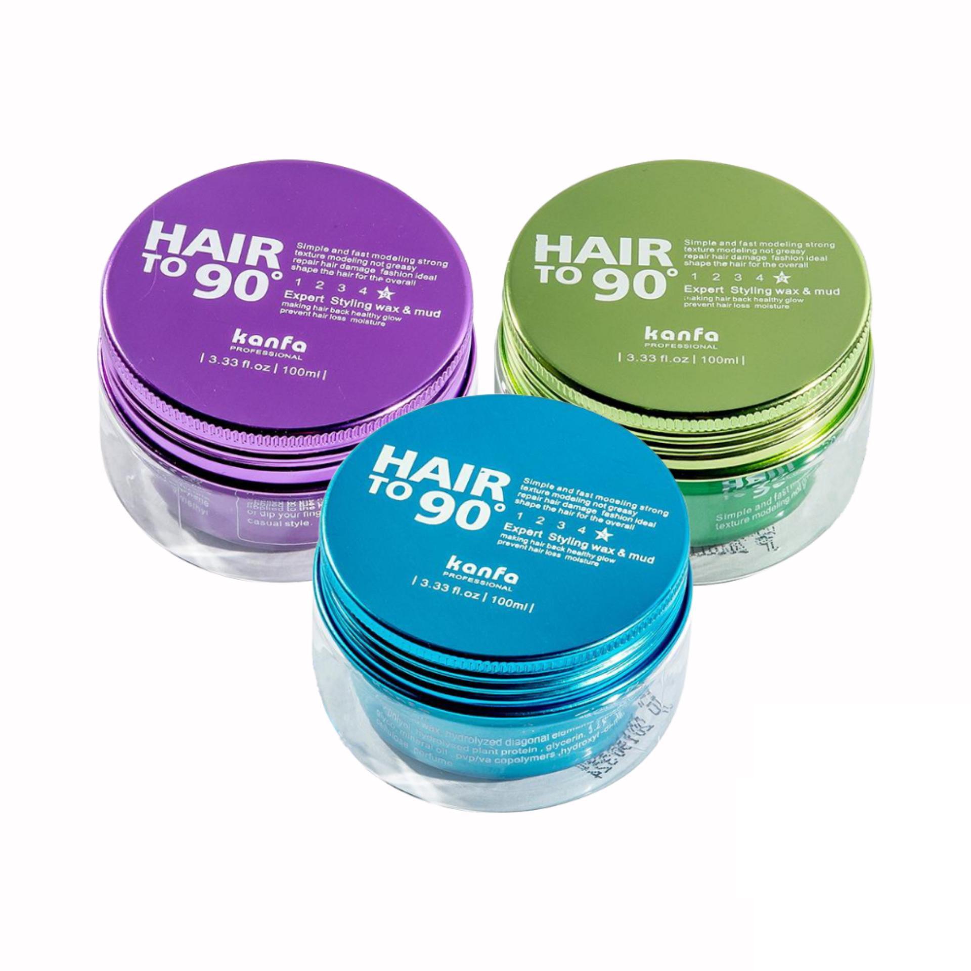 Hình ảnh Sáp vuốt Tóc Kanfa Hair To 90 Wax đặc trị những mái tóc mỏng, khó giữ nếp