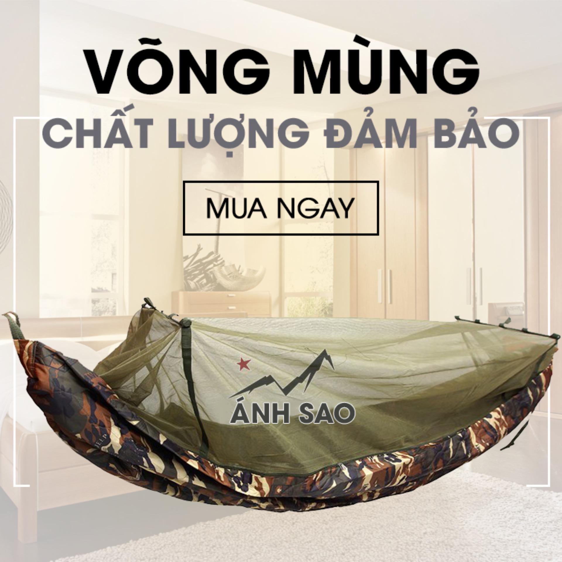 Hình ảnh Túi ngủ Biệt Kích Mỹ Phối Mùng Chống Muỗi 2 lớp Siêu Bền Ánh Sao(137 * 220 cm)