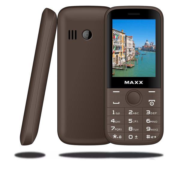 ĐTDĐ MAXX N6610 màn hình cong rộng 2.4 inch, pin khủng 1500 mAh (Cà phê) - Bảo hành 12 tháng