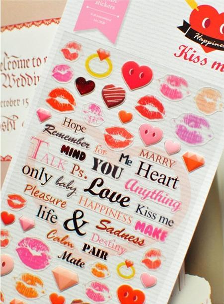Mua Sweet Kisses Sticker - Hình dán 3D cao cấp