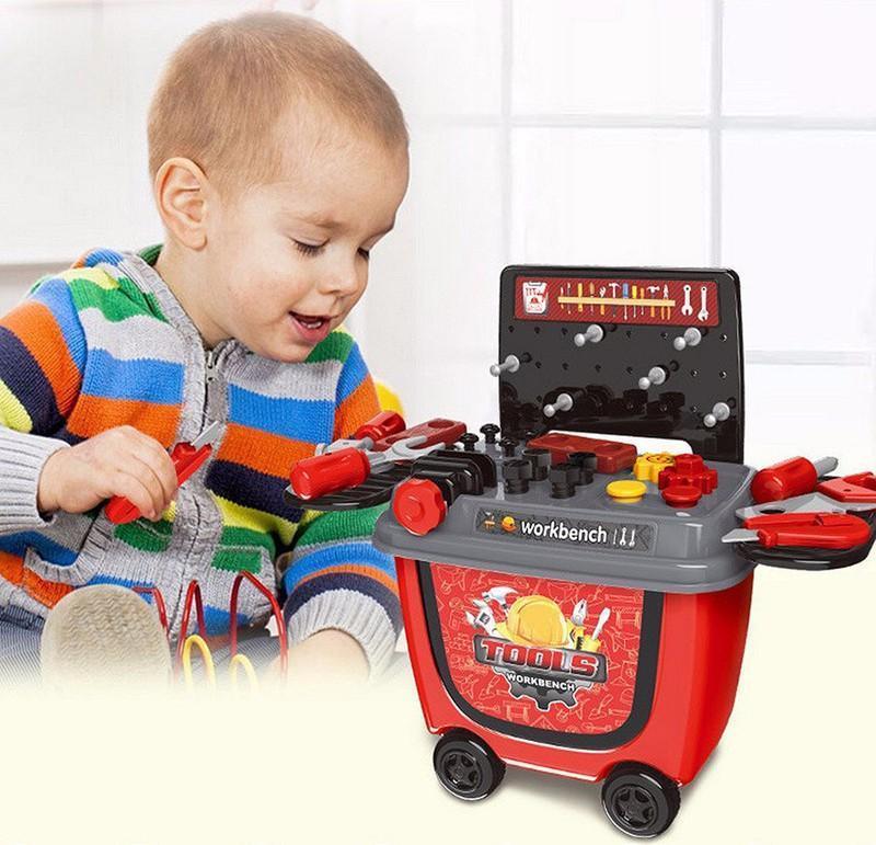 Hình ảnh Đồ chơi xe đẩy dụng cụ sửa chữa/ đồ chơi học làm kĩ sư