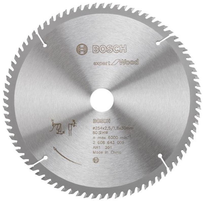 Lưỡi cưa gỗ 254x30mm T80, 2608643009, Bosch