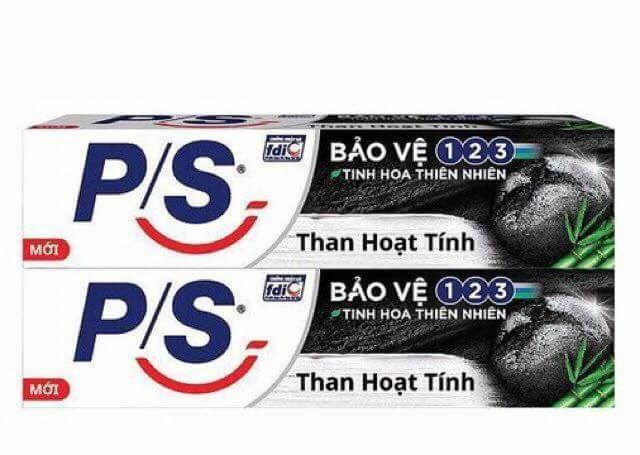 Hình ảnh Compo 5 kem đánh răng Ps than hoạt tín 30g