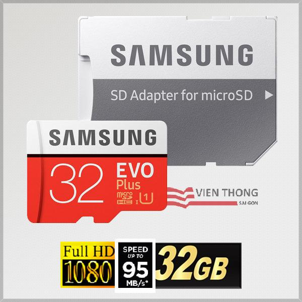 Bán Thẻ Nhớ Microsdhc Samsung Evo Plus 32Gb 95Mb S Adapter Mau Đỏ Samsung Rẻ