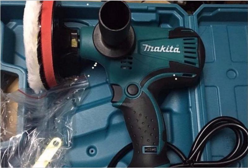 máy đánh bóng ô tô makita gv6010-máy đánh bóng xe ô tô mini 6 CẤP ĐỘ