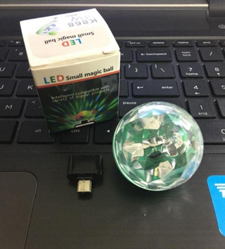 Bảng giá Đèn USB Vũ Trường, Đèn Led Tròn Chớp Tắt Theo Nhạc Độc Đáo Kết Nối Điện Thoại Phong Vũ