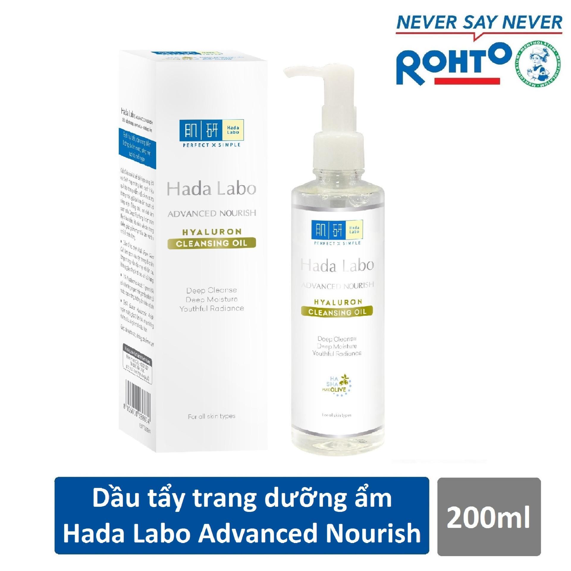 Giá Bán Dầu Tẩy Trang Hada Labo Advanced Nourish Hyaluron Cleansing Oil 200Ml Mới Nhất