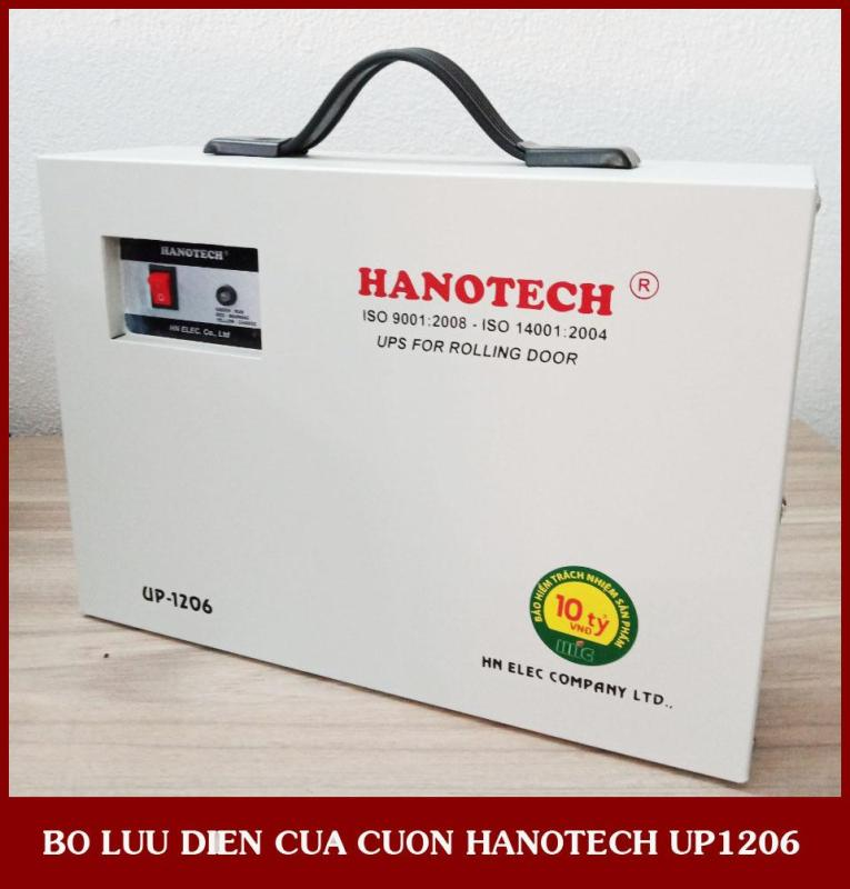 Bảng giá Bộ lưu điện cửa cuốn Hanotech UP-1206 (Dùng cho motor cửa cuốn 300kg-500kg) Phong Vũ
