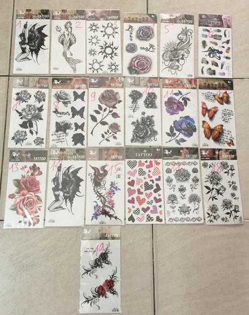 Hình ảnh Combo 2 miếng Hình xăm dán nước tattoo cao cấp - 2 mẫu khác nhau