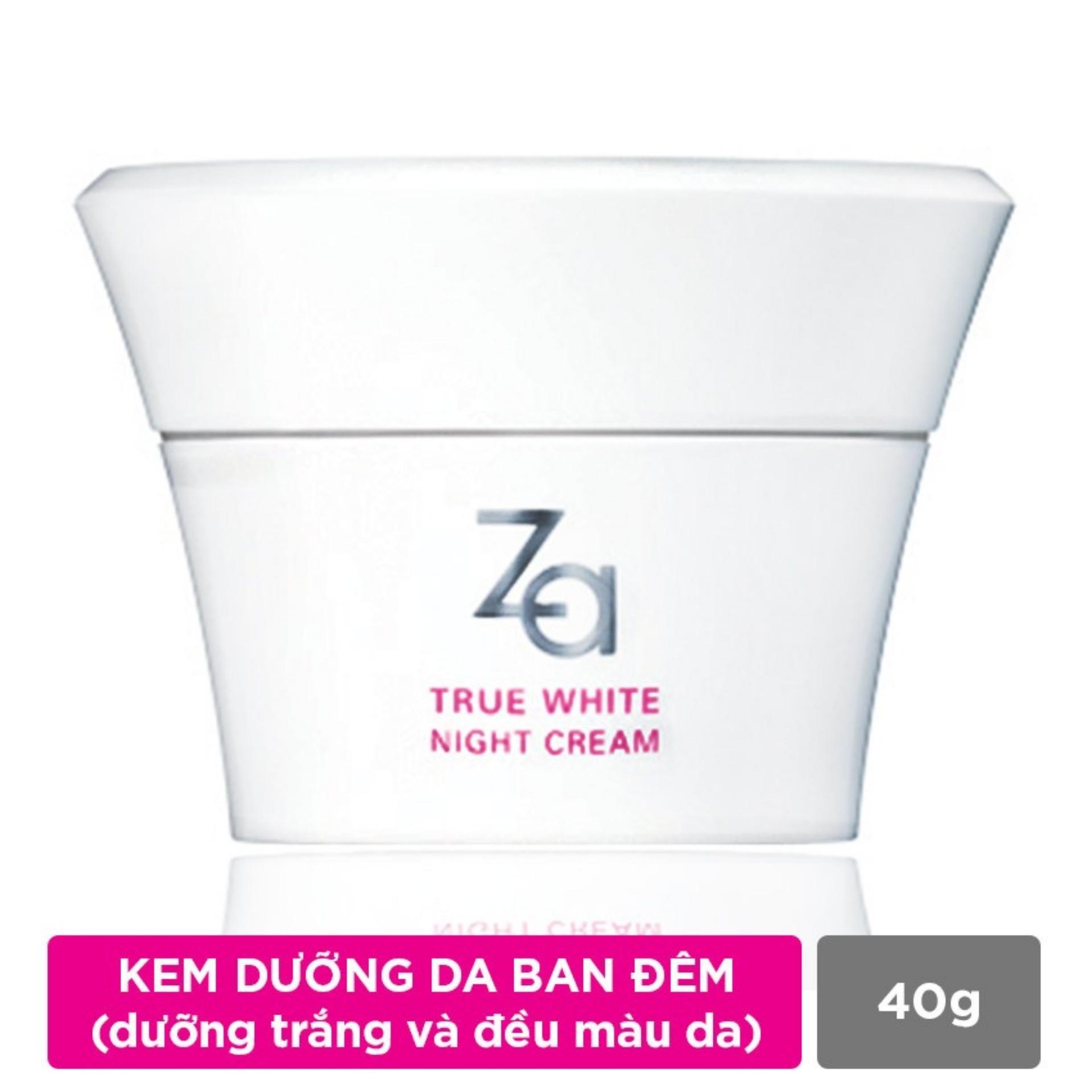 Giá Bán Kem Dưỡng Trắng Da Ban Đem Za True White Ex Night Cream 40Ml Nhãn Hiệu Za