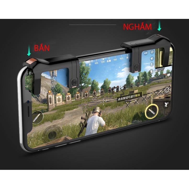 Hình ảnh Bộ 2 nút bấm Pubg F1 hỗ trợ chơi PUBG mobile ,ROS mobile trên mobile, ipad
