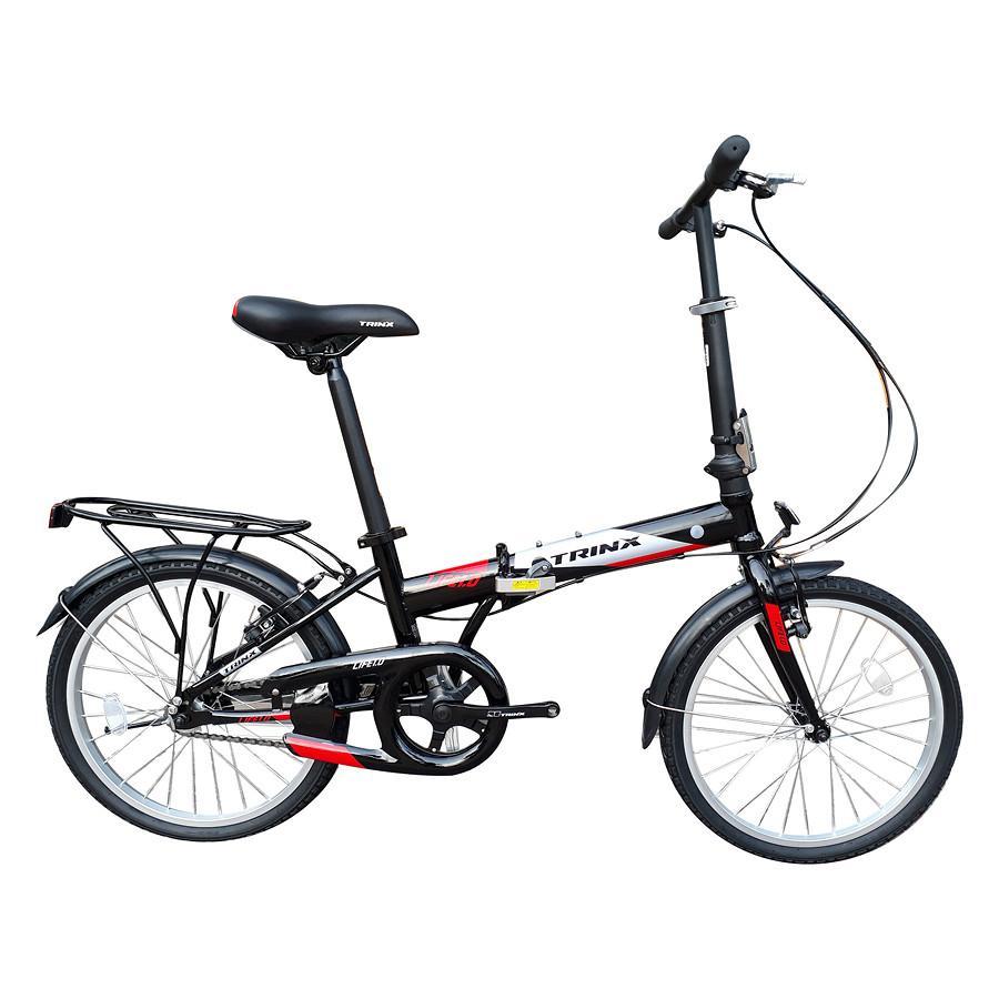 Xe đạp gấp Trinx LIFE 1.0 2018 Black/Grey Red