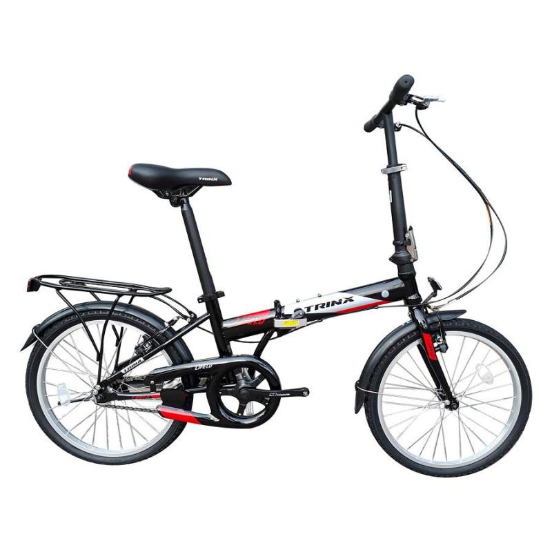 Phân phối Xe đạp gấp Trinx LIFE 1.0 2018 Black/Grey Red