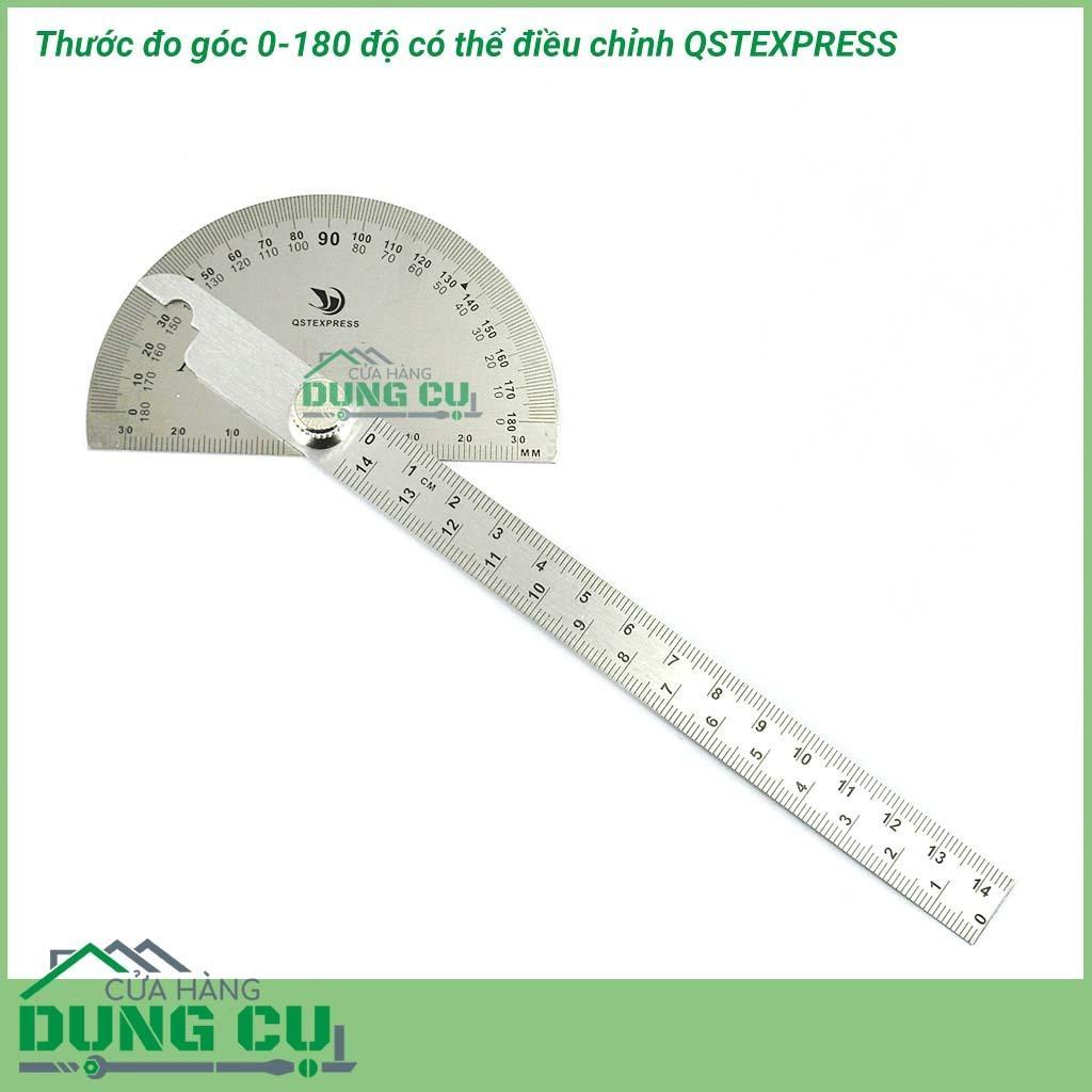 Mua Thước đo góc 0-180 độ có thể điều chỉnh 15cm