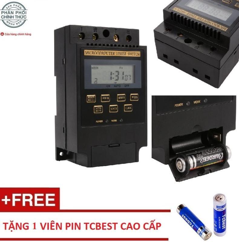 Công tắc hẹn giờ điện tử tắt mở thiết bị tự động Smart Sensor KG316 25A/220V (Đen) + Tặng 1 pin Tcbest cao cấp