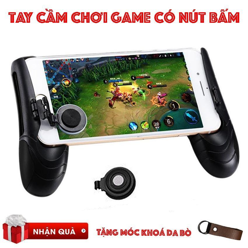 Hình ảnh Tay cầm chơi game PC có nút bấm tiện dụng/Bán buôn tay cầm chơi game (tặng móc khoá da bò)