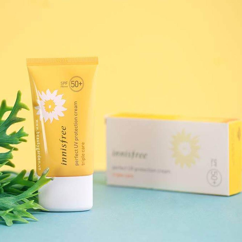 Hình ảnh Kem Chống Nắng Innisfree Perfect UV Protection Cream Triple Care SPF50 PA+++ 20ml