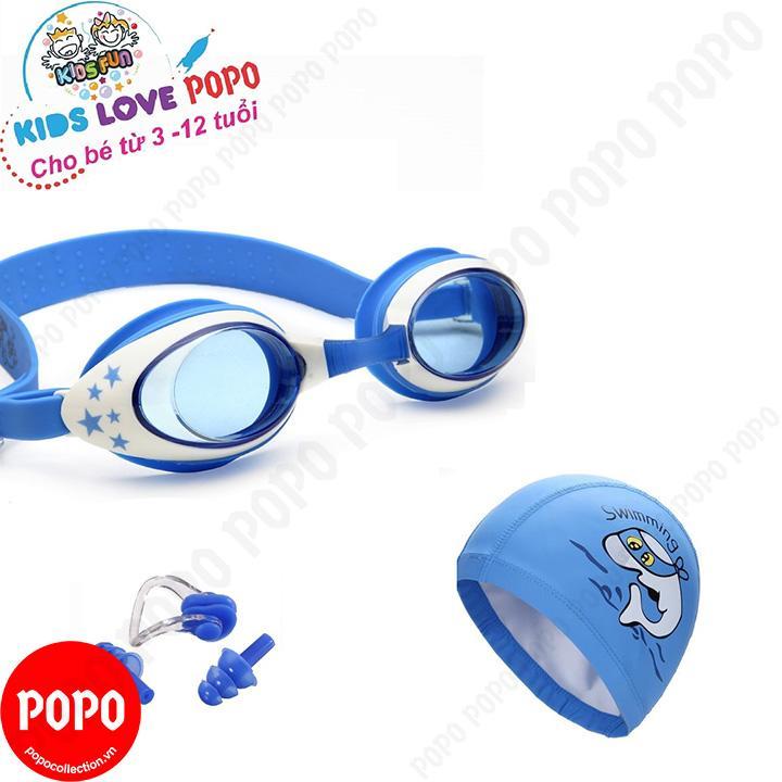 Hình ảnh Kính bơi trẻ em Star, Mũ bơi ngộ nghĩnh, Bịt tai kẹp mũi POPO Collection chống tia UV, chống sương mờ